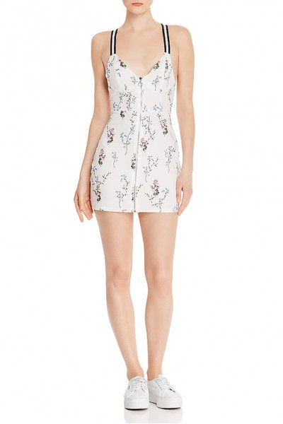 For Love And Lemons - Women's Luz Fitted Dress - Ivory Floral
