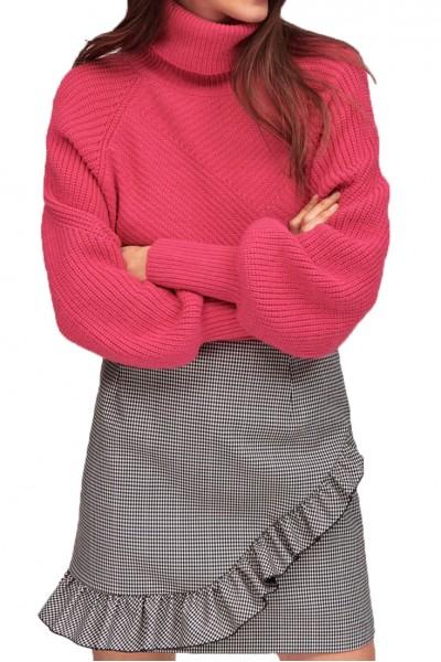 Tara Jarmon - Women's Houndstooth Skirt - Ecru