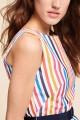 Tara Jarmon - Women's Multi Coloured Striped Dress - Blanc