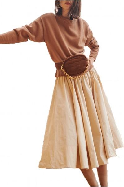 Tara Jarmon - Women's Taffeta Skirt - Naturel