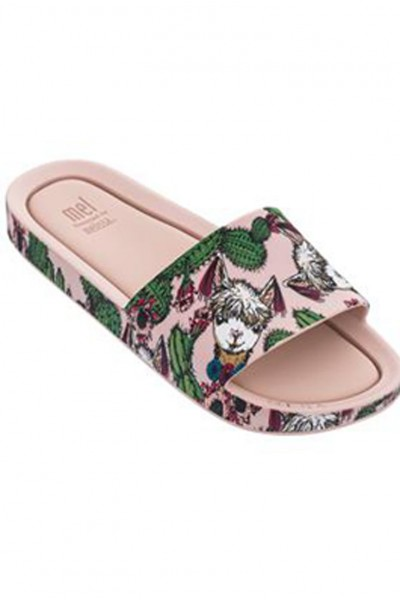 Mini Melissa - Kids Mel Beach Slide II - Peony Green