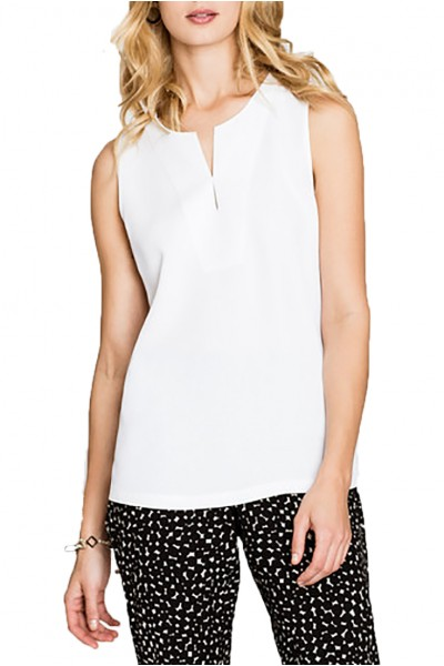 Nic+Zoe - Chill Out Tank - Paper White