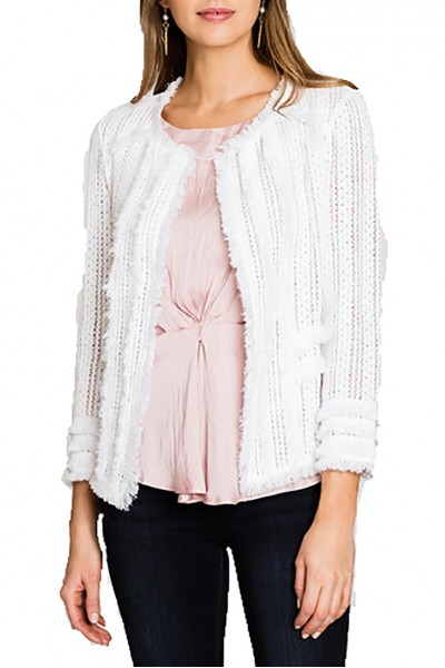 Nic+Zoe - Playful Jacket - Paper White