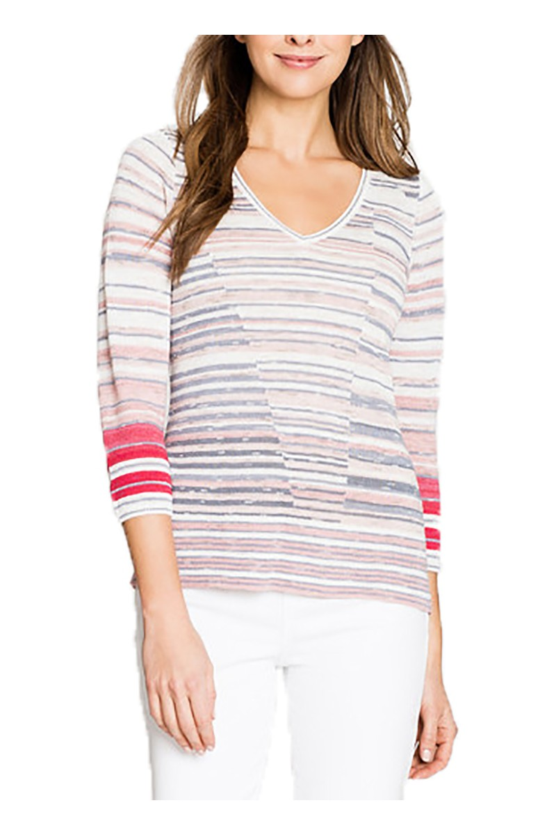Nic+Zoe - Skyline Stripe Top - Multi