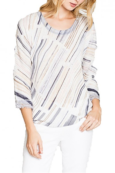 Nic+Zoe - Water Stroke Top - Multi