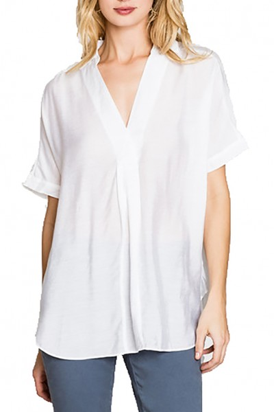Nic+Zoe - Waterfront Top - Paper White