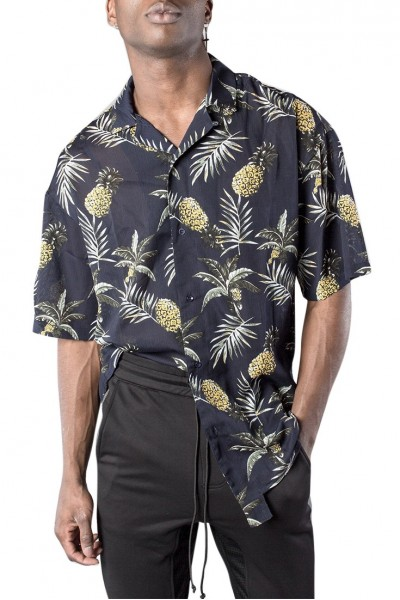 Kollar - Men's Resort Pineapple Button Down - Navy