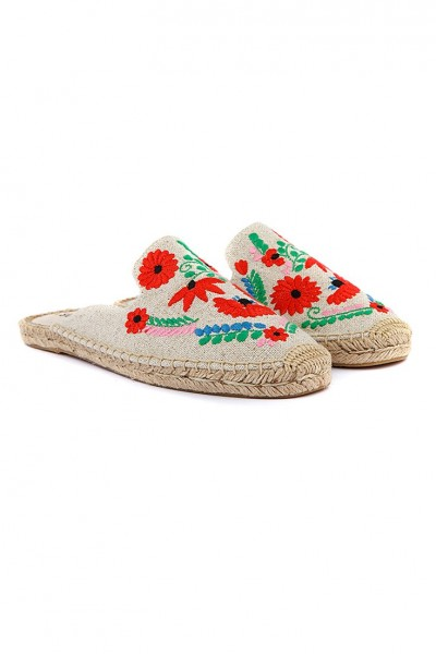 Soludos - Women's Ibiza Embroidered Smkg Slipper - Multi