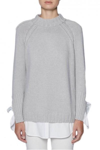 Brochu Walker - Women's Remi Layered Pullover - Grey