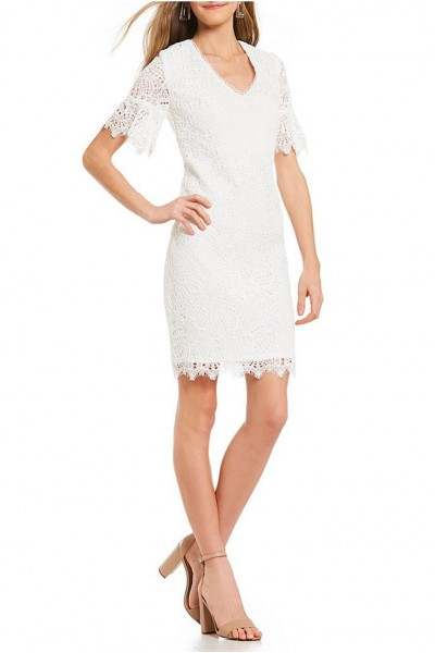 Trina Turk - Women's Darling Floral Lace Dress - White