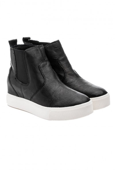 J Slides - Women's Sydnee Boots - Black Leather