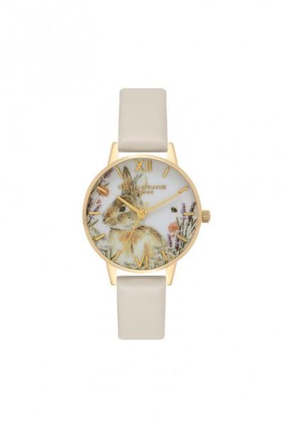 Olivia Burton - Women's Vegan Friendly Woodland Bunny Watch - Nude Gold
