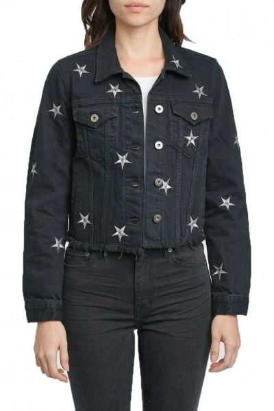 Pistola - Women's Brando Cropped Fitted Denim Jacket - Astrological