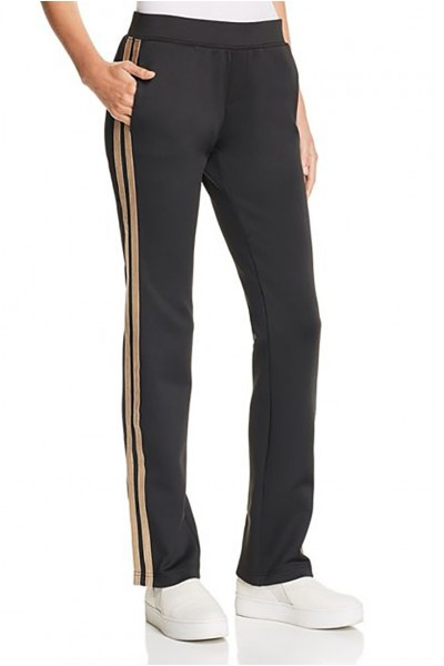 Pam & Gela - Women's H 18 Mixed Metal Side Stripe Pant - Black