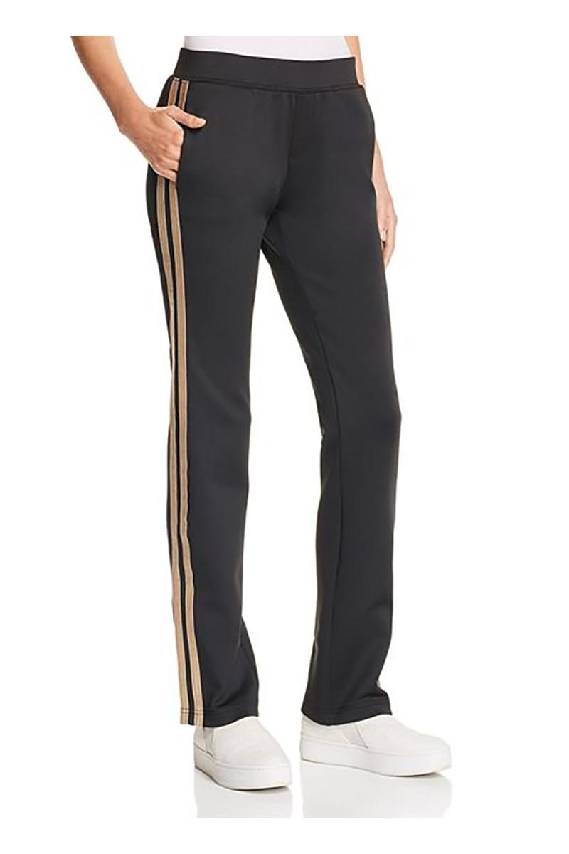 Pam & Gela - Women's H 18 Mixed Metal Side Stripe Pant - Black