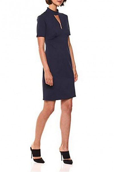 Trina Turk - Women's Camari Choker Neck Dress - Indigo
