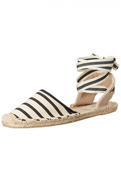 Soludos - Women's Classic Sandal Stripe Shoe - Natural Black