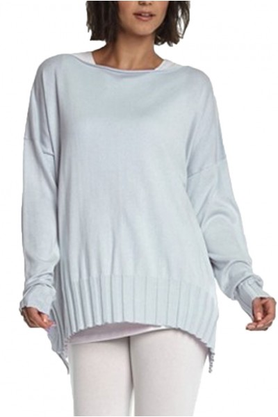 Planet - Women's Boatneck Rib Sweater - Ice Blue