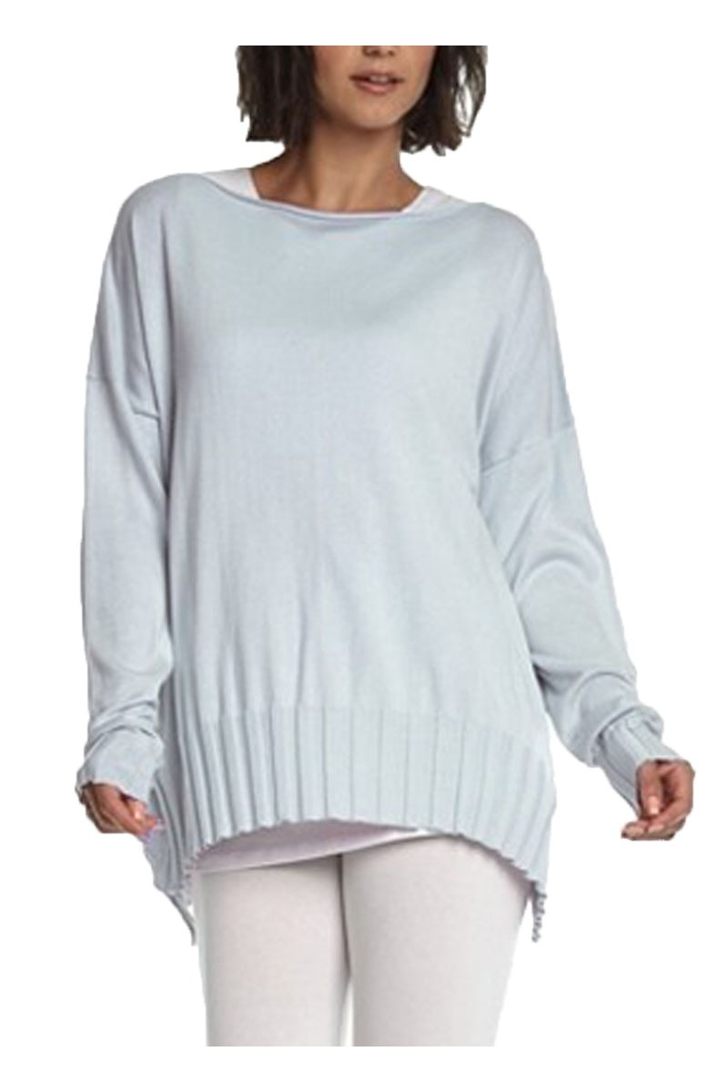 Planet - Women's Boatneck Rib Sweater - Ice Blue