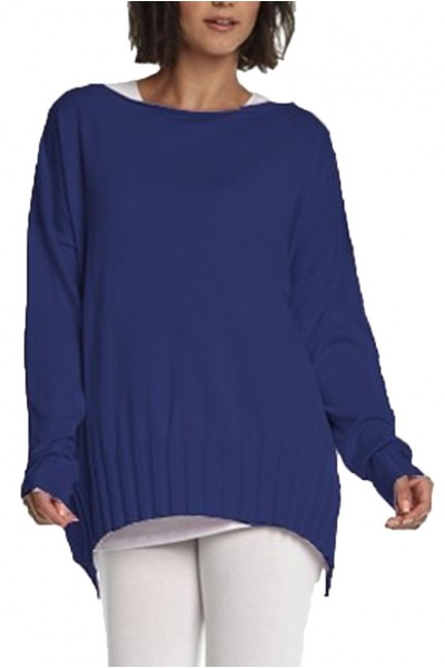 Planet - Women's Boatneck Rib Sweater - Midnight