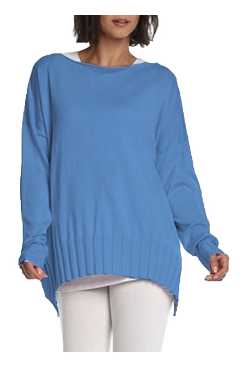 Planet - Women's Boatneck Rib Sweater - Peri