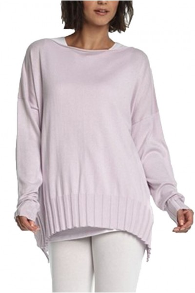 Planet - Women's Boatneck Rib Sweater - Sheer Pink