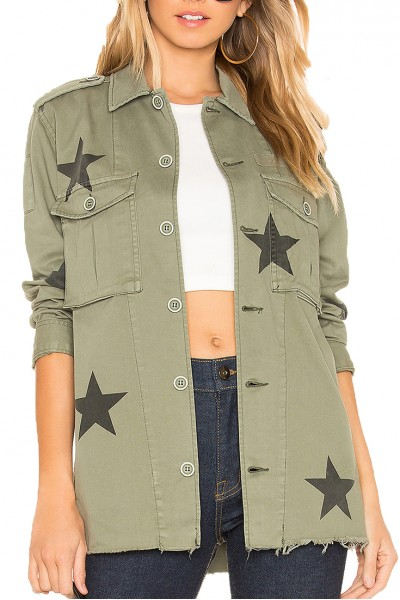 Pistola - CAMILO MILITARY JACKET W/ STAR PRINT - ROY-ROYAL HONOR