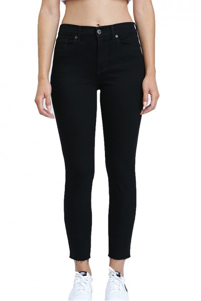 Pistola - ALINE COATED HIGH RISE SKINNY PANT - COATED ONYX