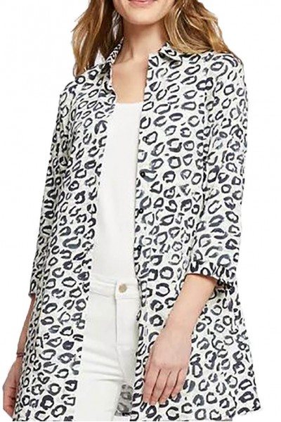 Nic+Zoe - Women's Leopard Kisses Shirt Jacket - Multi