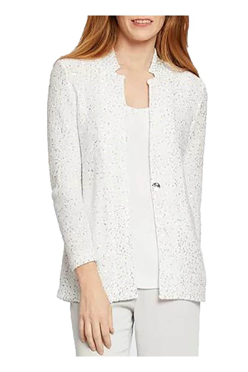 Nic+Zoe - Women's Sequin Moment Blazer - Paper White