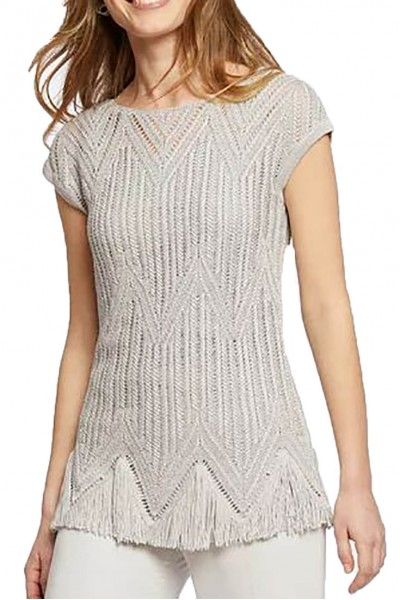 Nic+Zoe - Women's Show Time Top - Silver Wisp