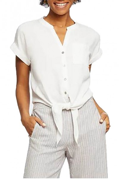 Nic+Zoe - Women's Tie In On Top - Paper White