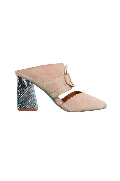 Jaggar - Women's Stand Up Suede Heel - Peach