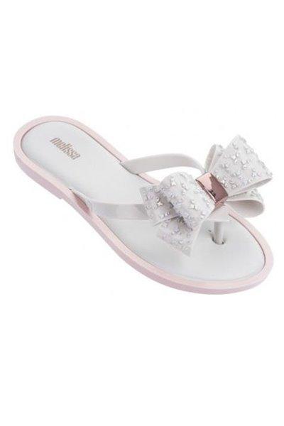 Melissa - Women's Flip Flop Sweet Ad - White Pink
