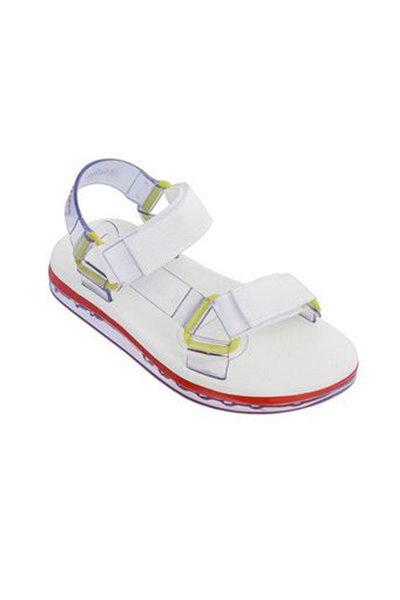 Melissa - Women's Papete + Rider Slide Boasts Slipper - Yellow Neon Glitter