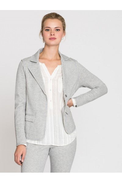Nic + Zoe - Women's Stretch Knit Morden Blazer - Heather Grey