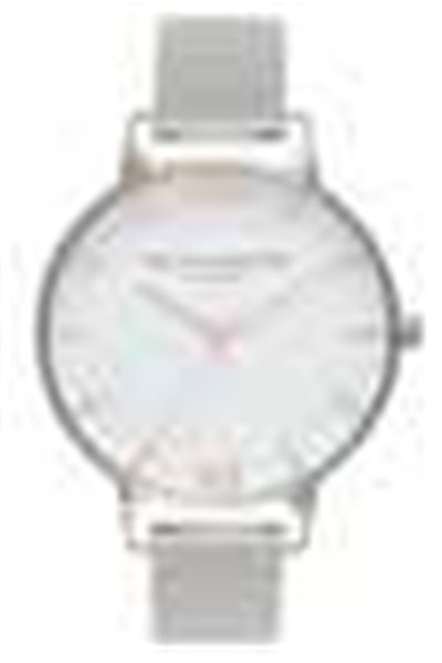 Olivia Burton - White Dial - Rose Gold and Silver Mesh Watch