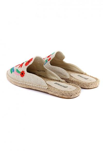 Soludos - Women's Ibiza Embroidered Smkg Slipper - Multi