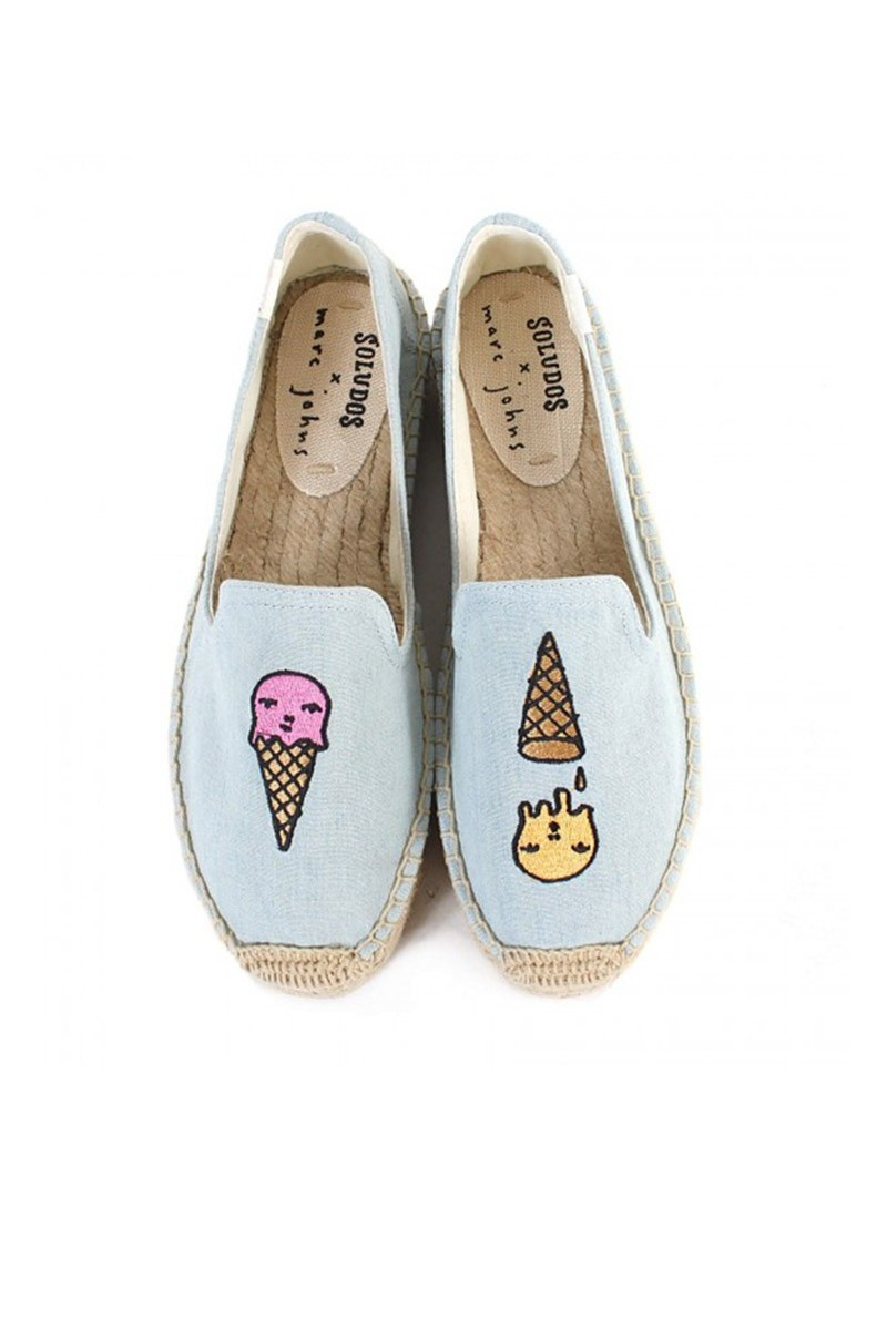 Soludos - Women's Ice Cream Platform Smoking Slipper - Chambray
