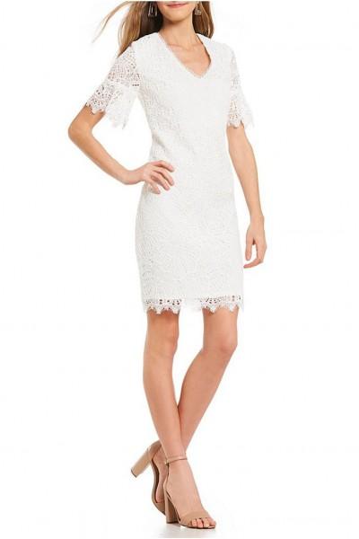 Trina Turk - Women's Darling Floral Lace Dress - White
