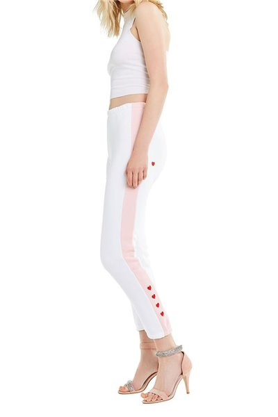 Wildfox - Love Track Bottoms Track Knox Pant - Clean White Romantic