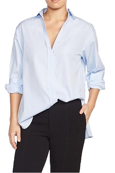 Brochu Walker - Women's Adele Popover - Oxford Blue Shirting
