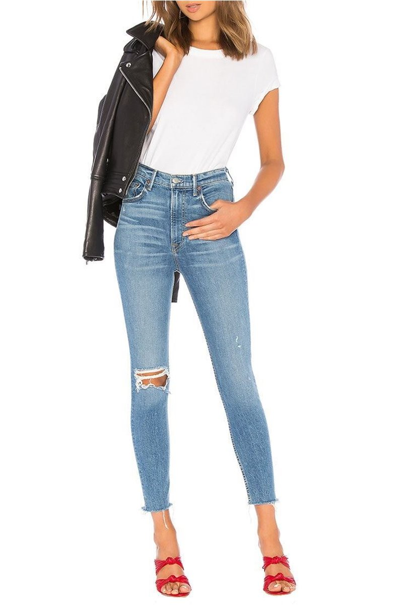 Grlfrnd - Women's Kendall Super Stretch High Rise Skinny Jean - Amelia