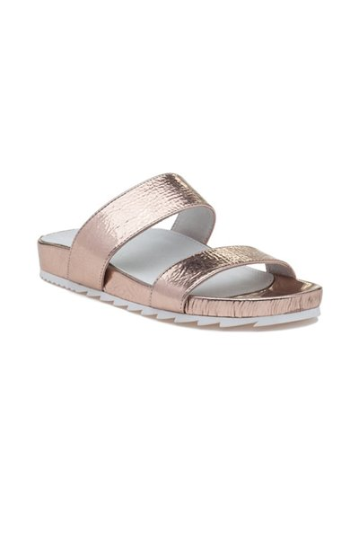 Jslides - Women's Edie Leather - Rosegold Cracked