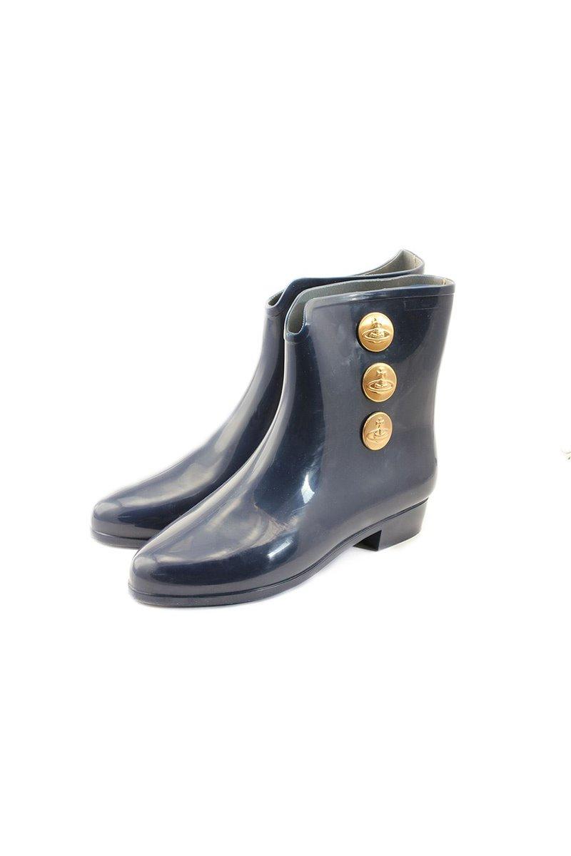 Melissa Black X Vivienne Westwood Ankle Boot Blue/Red
