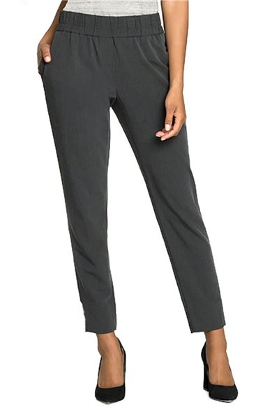 Nic+Zoe - Women's Around The Clock Pant - Dark Grey Heath
