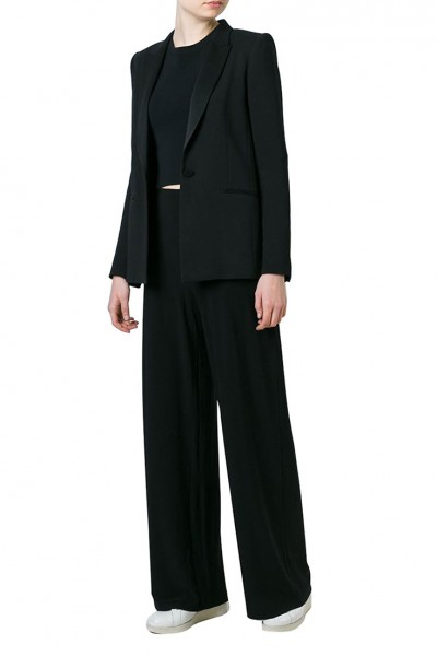 Norma Kamali - Straight Leg Pant - Black (Not Mapped)