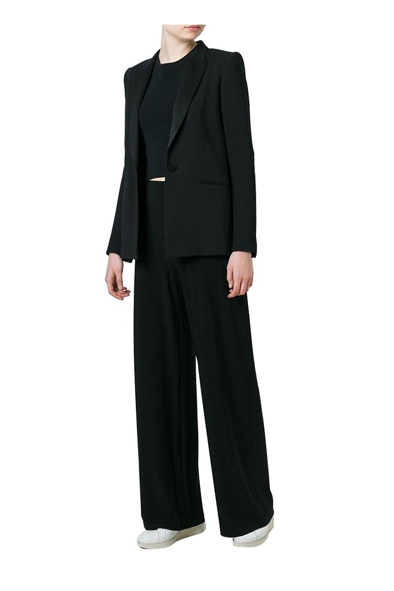 Norma Kamali - Straight Leg Pant - Black (Not Mapped)