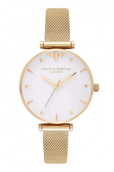 Olivia Burton - Women's Queen Bee Watch - Gold Mesh (Not Mapped)