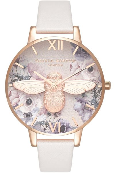 Olivia Burton - Women's Watercolour Florals Rose Gold & Blush Watch - Multicolour Off white (Not Mapped)